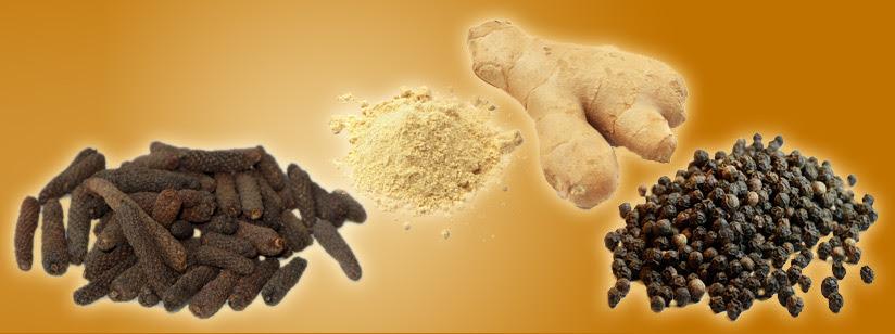 Trikatu; gember, pipali en zwarte peper
